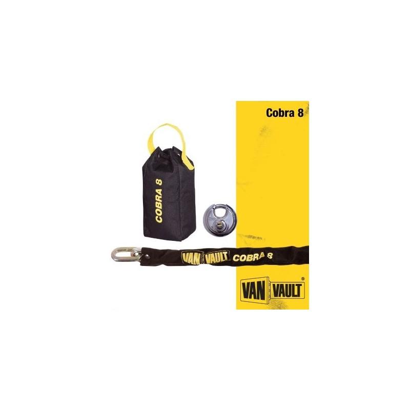 Van Vault COBRA 8 Security Chain 1.2 M /& Lock S10120